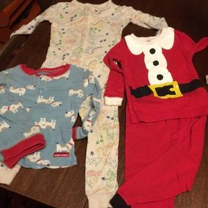 Lot of 3 sets 18 month to 24 month pajamas